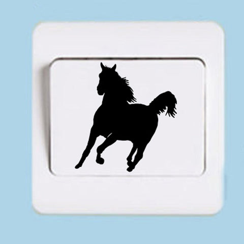 Running Horse Silhouette Switch Panel Sticker