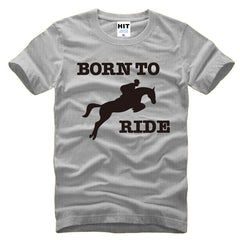 Born To Ride Horse Riding Printed on a Men's T-Shirt