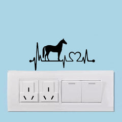 Horse Switch Panel Sticker