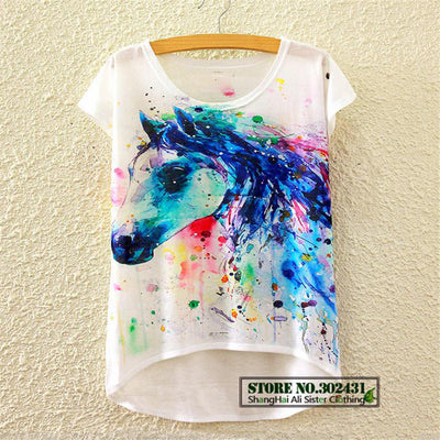 Colorful Illustrated T Shirts Print