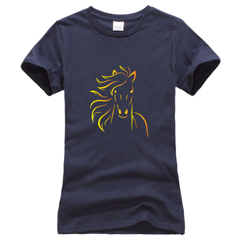Horse Illustration Printed on a T shirts