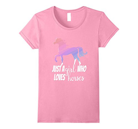 Just A Girl Who Loves Horses Equestrian Lover T-Shirt