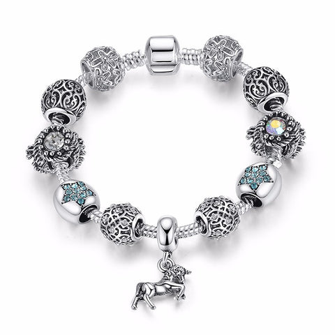 Beads Bracelet with Horse Pendant