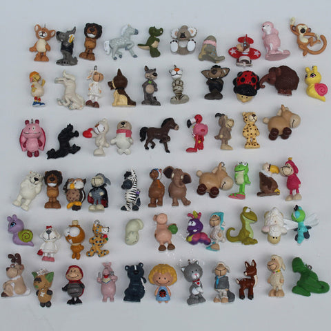 24PCS Cartoon Mini Animal Figurine - Unicorn, Owl, Monkey, Bear, Dog and More