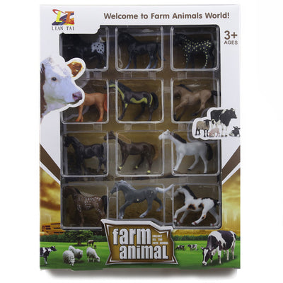 Hand Painted Soft Farm Animal Toys Collection
