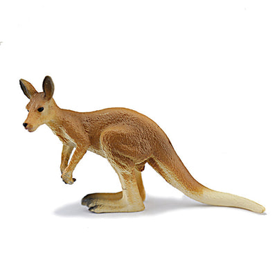 Herbivore Animals - Giraffe, Kangaroo, Deer, Kangaroo Hand Painted Model