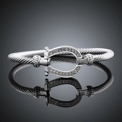 Horseshoe Bangle Cuff Bracelets