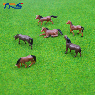 Model Horses painted Horse 30pcs
