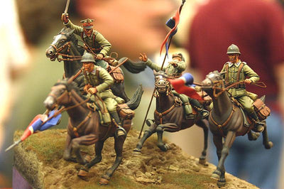 Resin Figure Model Kit  WWII Polish cavalry charge