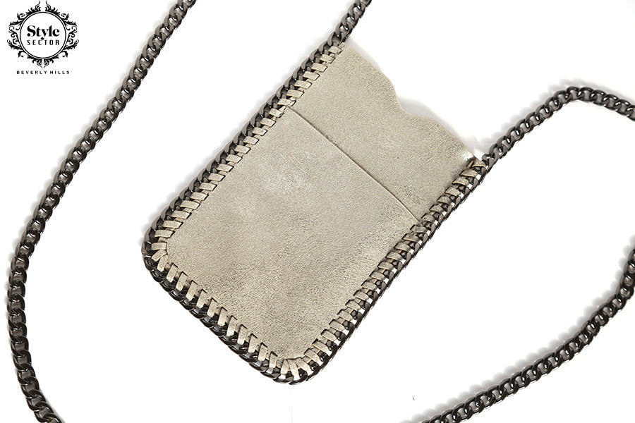 CROSSBODY (Petite Handbag in Matte Silver)
