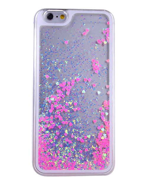 Liquid Glitter iPhone Case ( HOT PINK )