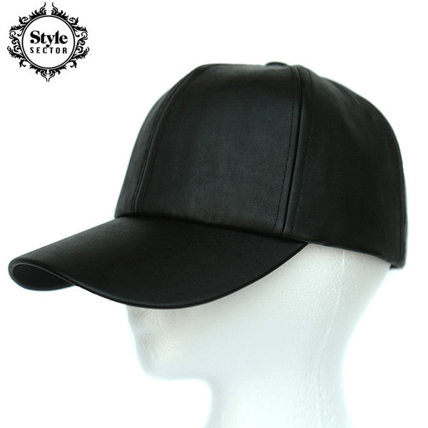 Leather Hats (Black, Pink, Grey, White)