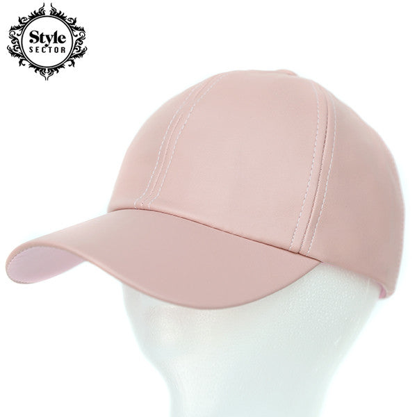 Leather Hat (pink)