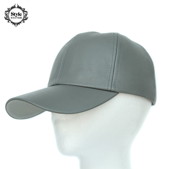 Leather Hat (Grey)