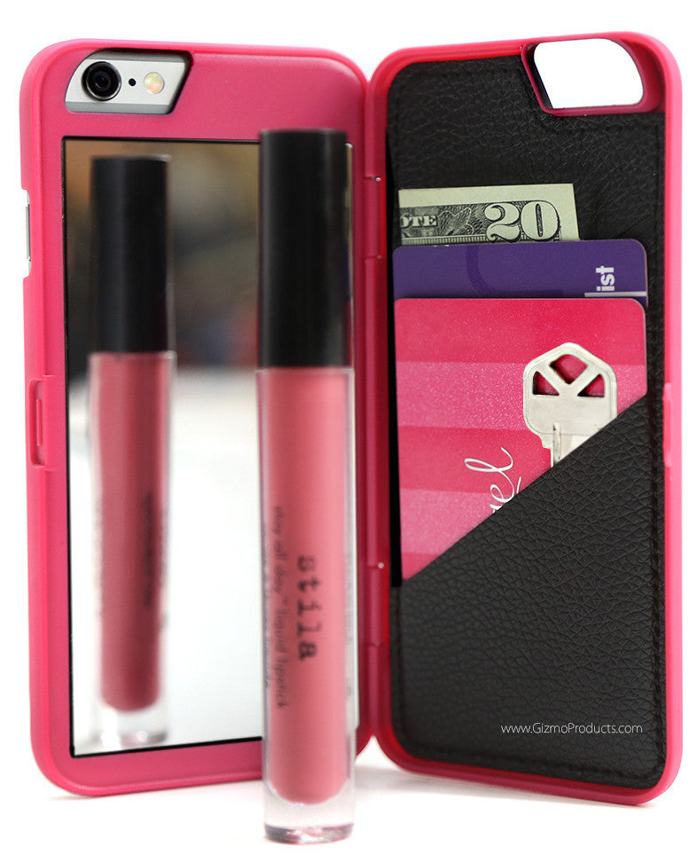 reputable site 41fef fea62 MIRROR/WALLET CASE FOR IPHONE 6/6PLUS (pink)