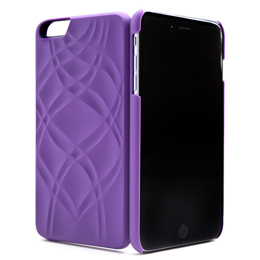 MIRROR/WALLET CASE FOR IPHONE 6/6PLUS (purple)