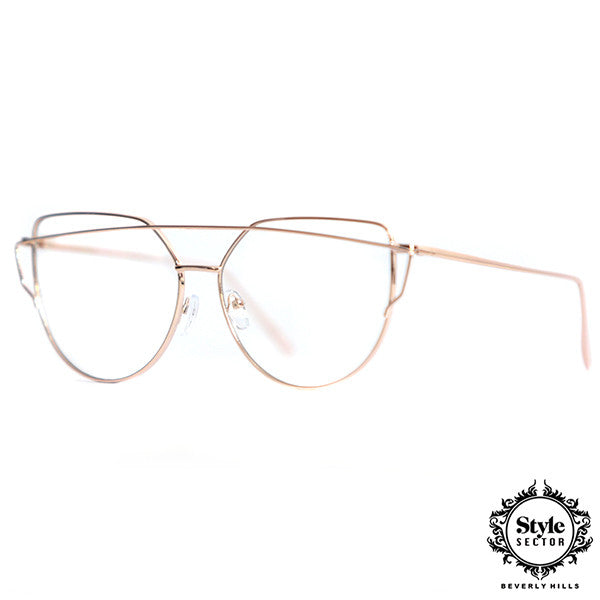 MYSTIQUE (Rose Gold Frame w/ Clear Lens)