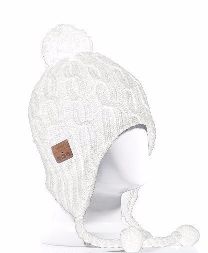 Bluetooth POM-POM BEANIE - White