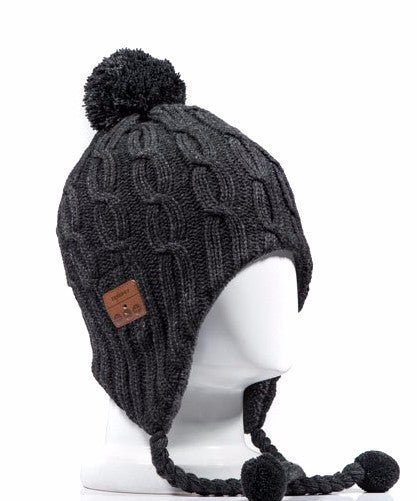 Bluetooth POM-POM BEANIE -Grey