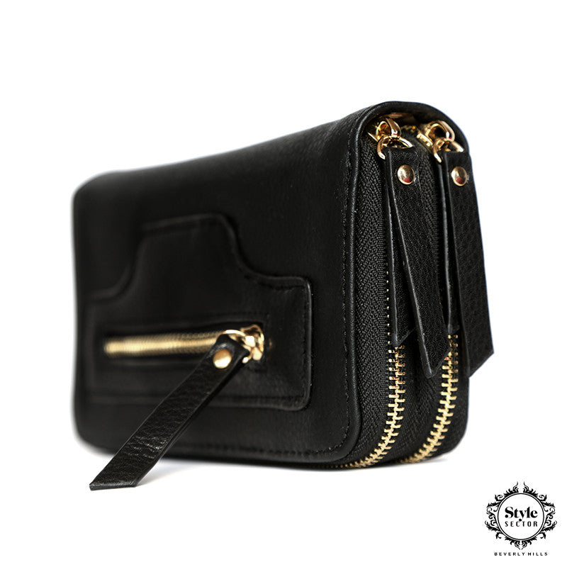 WALLET (Black w/ Double Zipper)