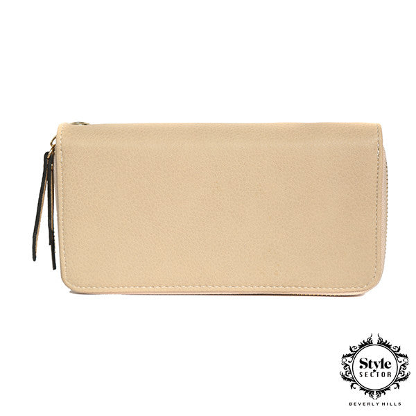 WALLET (Beige w/ Double Zipper)