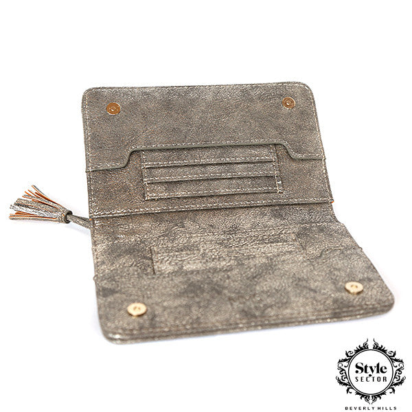 WALLET (Slim & Trendy / Metallic Grey)