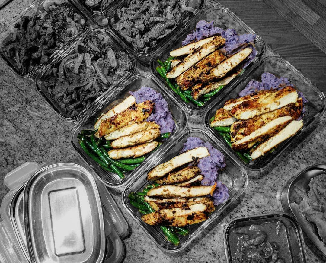 Hawaiian Mash, Chicken Breast & Beans Meal Prep