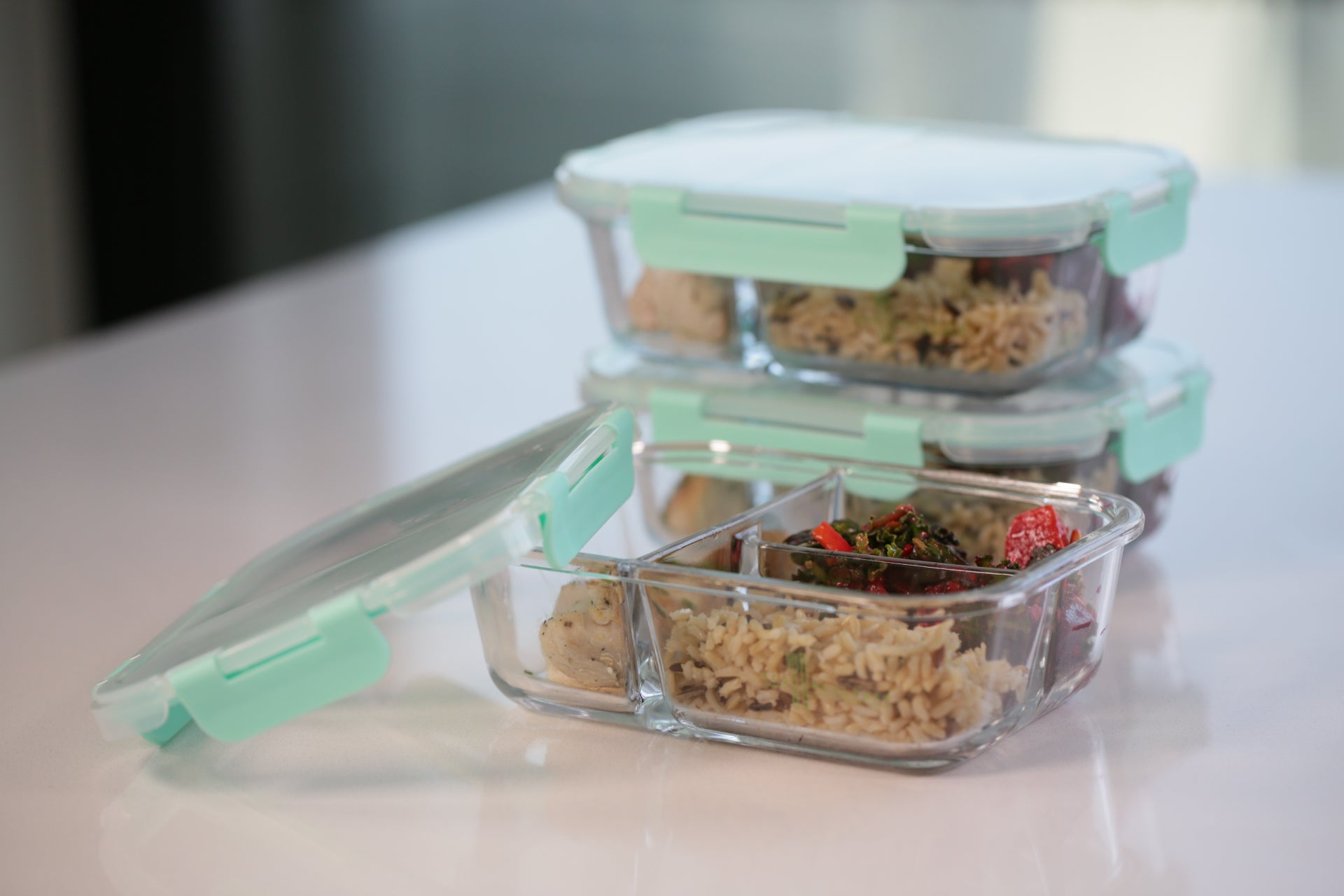 Bento Glass Meal Prep Container (3-Pack) - Eco Meal Prep