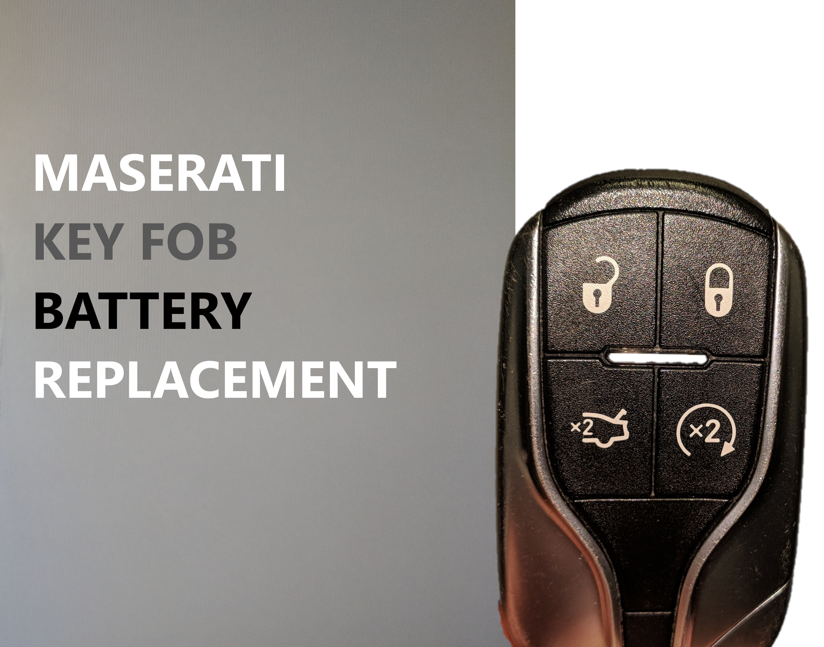 Maserati Key fob Battery Replacement