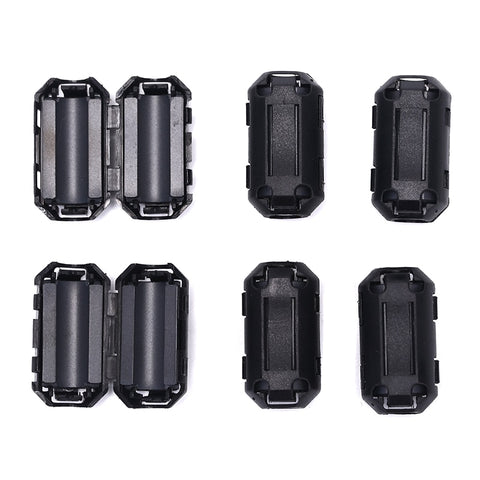 6PCS Clip On EMI RFI Noise Ferrite Core Filter For 7mm Cable