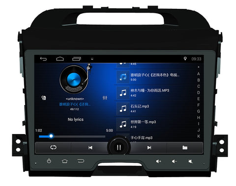 "9""2+32GB Android 7.0.1 car radio DVD player for KIA Sportage 2011 2015 with GPS Radio BT AUX WIFI Stereo Capacitive mirror link"