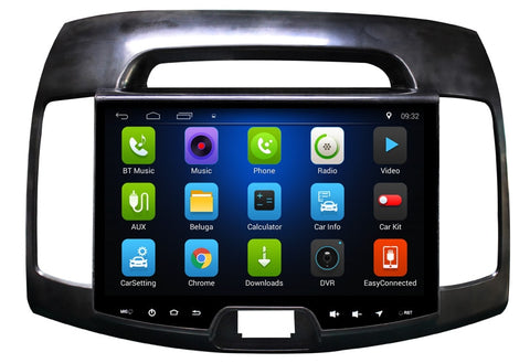 "9"" Android 7.0 Car DVD GPS Navi for Hyundai Hyundai Elantra 2007 2018 In-dash Car PC Radio Stereo mirror link USB player no DVD"