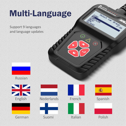 Ancel AS100 Obd2 Car Diagnostic Tool OBD 2 Automotive Scanner Engine Analyzer Tool Code Reader Obdii Scan Tool PK ELM327 v1.5