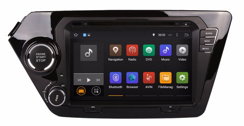 Android 7.1 Car DVD Player for Kia K2 RIO 2011 2012 with GPS Navigation Radio BT USB WIFI Video Stereo Mirror Link 4Core+2G map