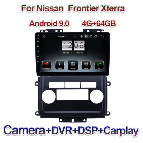 "9"" 1 Din Android 9.0 Car Radio For Nissan Frontier Xterra Auto GPS Navigation Automotivo Head Unit Carplay 4G 2009-2012"