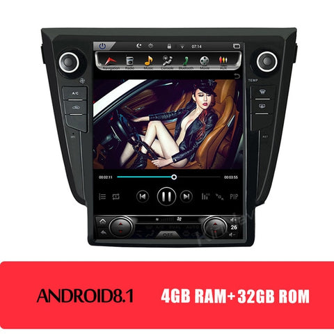 "Vertical Screen Tesla Style 12.1"" Android 8.1 Car Radio GPS Navigation For Nissan Qashqai Car Multimedia Player 2014+"