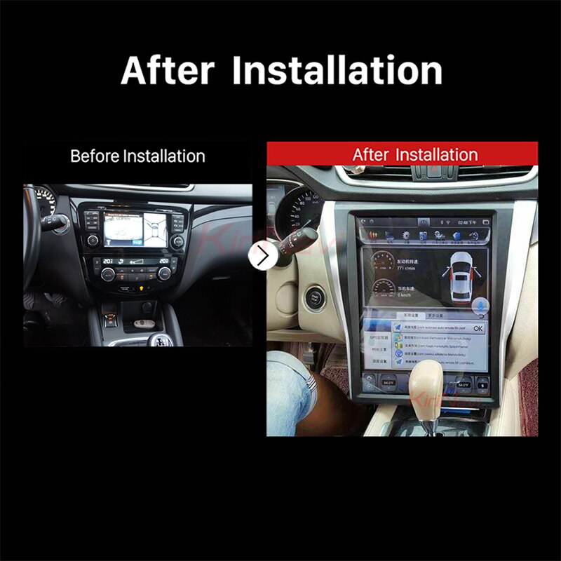 "Vertical Screen Tesla Style 15"" Android 7.1 Car Radio GPS Navigation For Nissan X-trail Qashqai DVD Car Player 2014+"