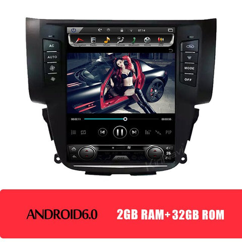 Vertical Screen Tesla Style Android 8.1 Car Dvd Multimedia Player For Nissan Sylphy Sentra Radio Automotivo 2012-2016
