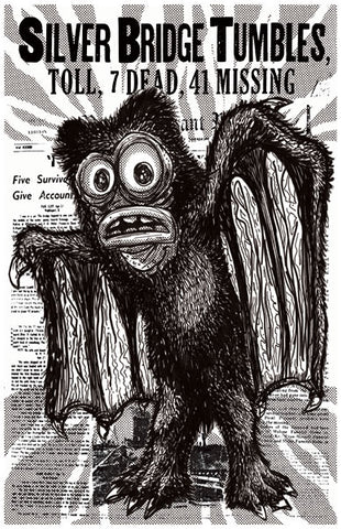 Mothman Print by Jeff Lamm