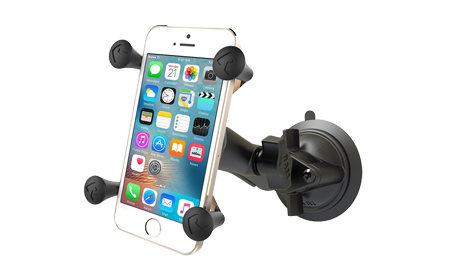 Universal Mount for Cell Phone with Twist Lock Suction Cup base