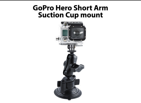 GoPro Hero Short Arm Suction Cup mount