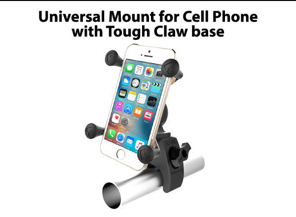 Universal Mount for Cell Phone with Tough Claw base