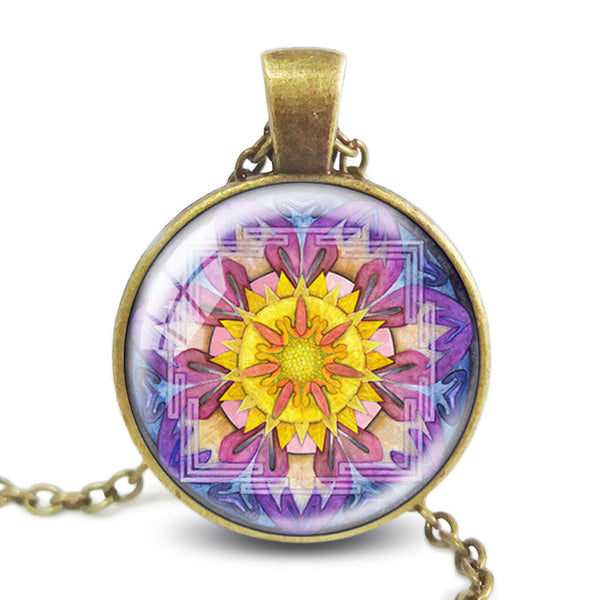 Sunflower Yantra Necklace