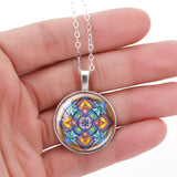 Four Directions Mandala Necklace