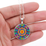 Stained Glass Mandala Necklace
