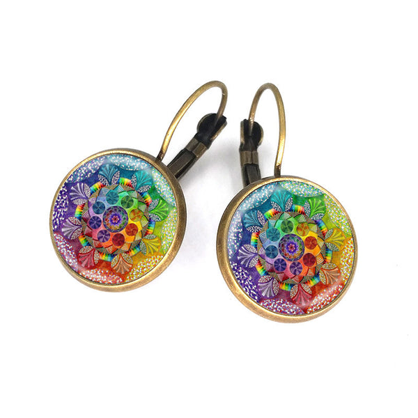 New Earth Mandala Earrings