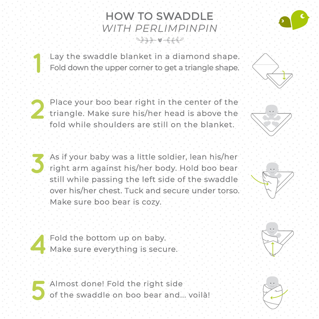 How to swaddle baby with Perlimpinpin