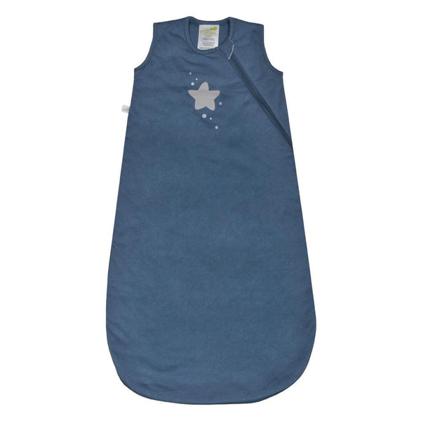 Quilted cotton sleep bag - blue stars (1 tog)