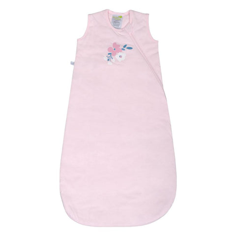 Quilted cotton sleep bag - pink flowers (1 tog)