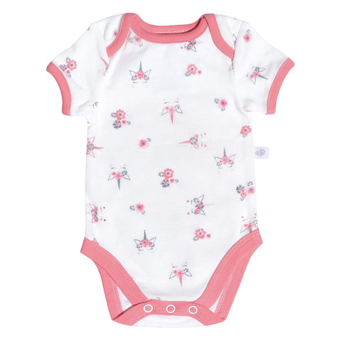 Cotton knit onesie -unicorn